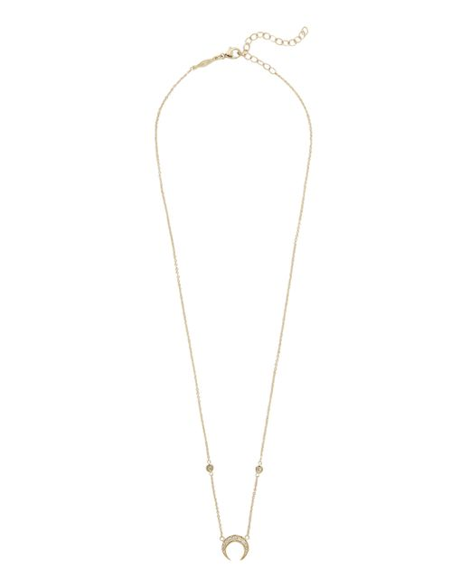 Jacquie Aiche - Metallic Pavé Mini Crescent Necklace - Lyst