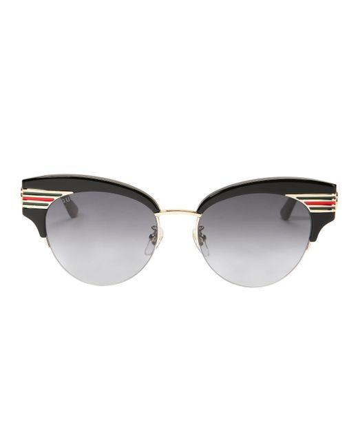 8c93d3bef12 Gucci - Black Vintage Signature Stripe Sunglasses - Lyst ...