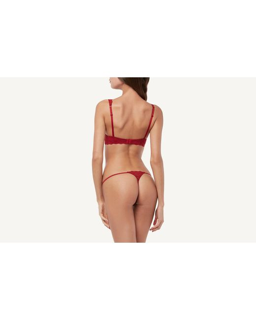 8dde67316a1 Intimissimi Elena Lace Balconette Bra in Red - Save 11% - Lyst