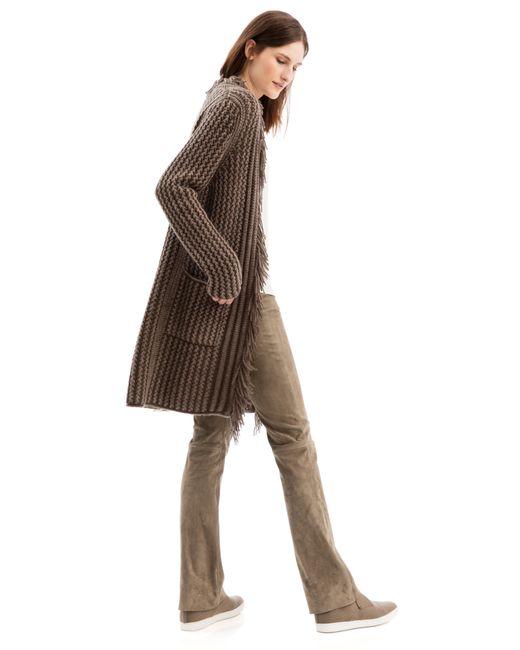 iris von arnim cardigan bakerloo in brown lyst. Black Bedroom Furniture Sets. Home Design Ideas