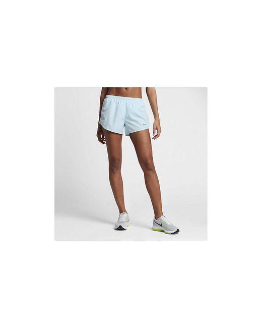 "Nike | Blue Dry Tempo Women's 3"" Running Shorts | Lyst"