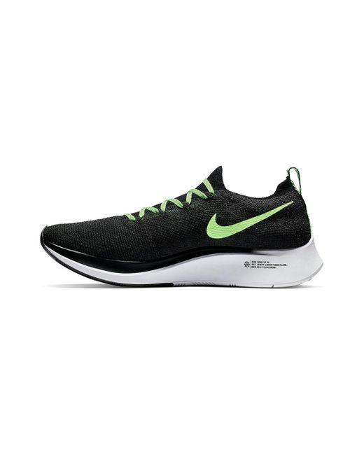 f1f76fc7dd3 ... Nike - Black Zoom Fly Flyknit Running Shoe for Men - Lyst ...