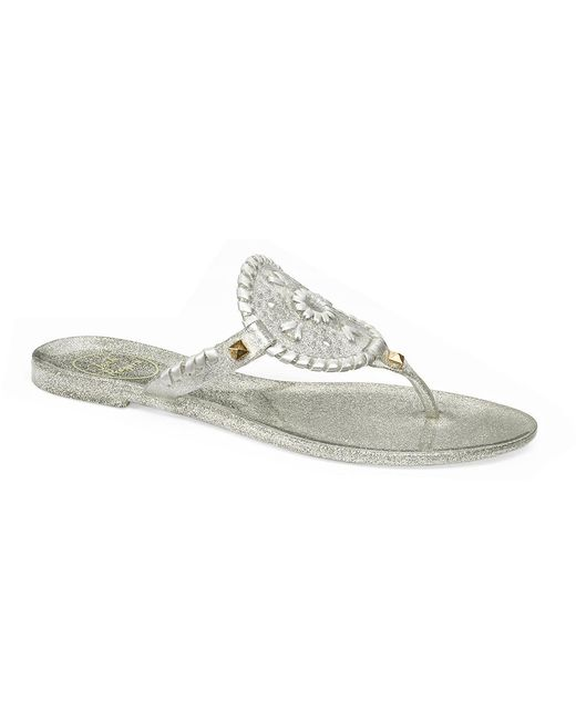 Jack Rogers - Metallic Sparkle Georgica Jelly - Lyst