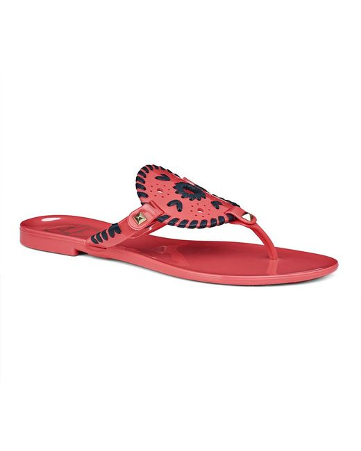 Jack Rogers | Pink Georgica Jelly Sandal | Lyst