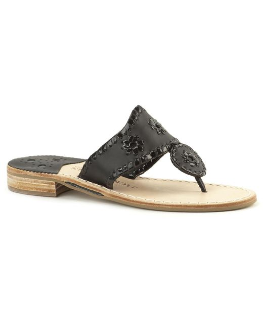 Jack Rogers - Black Narrow Palm Beach Sandal - Lyst