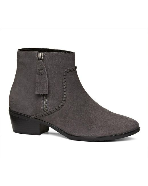 Jack Rogers - Gray Dylan Suede Bootie - Lyst