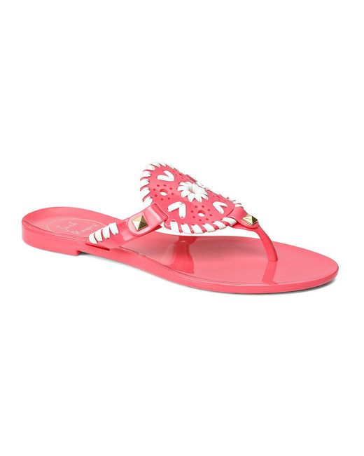 Jack Rogers | Pink Miss Georgica Jelly Sandal | Lyst