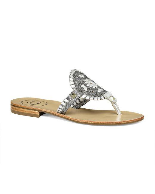 Jack Rogers | Metallic Georgica Sparkle Sandal | Lyst