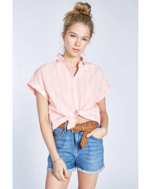 9c25b32778324 Jack Wills - Pink Stowell Stripe Dolman Sleeve Shirt - Lyst ...
