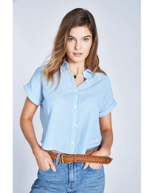 d5858b194a086 Jack Wills - Blue Stowell Stripe Dolman Sleeve Shirt - Lyst ...