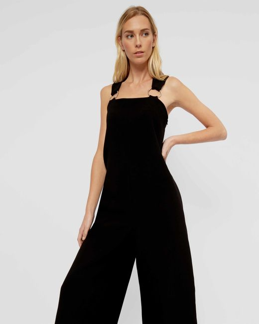 Jaeger | Black Ring Strap Jumpsuit | Lyst