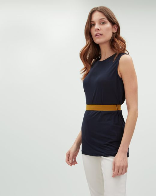 Jaeger - Blue Jersey Tunic With Elastic Waistband - Lyst