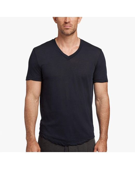 James Perse - Black Clear Jersey V-neck for Men - Lyst