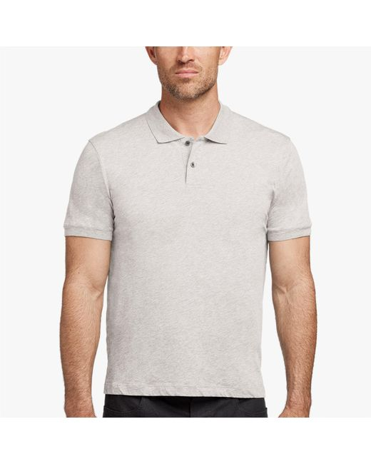 James Perse - Gray Cotton Cashmere Jersey Polo for Men - Lyst