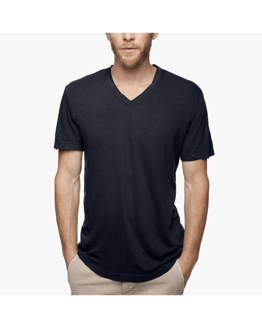 James Perse | Black Clear Jersey V-neck for Men | Lyst