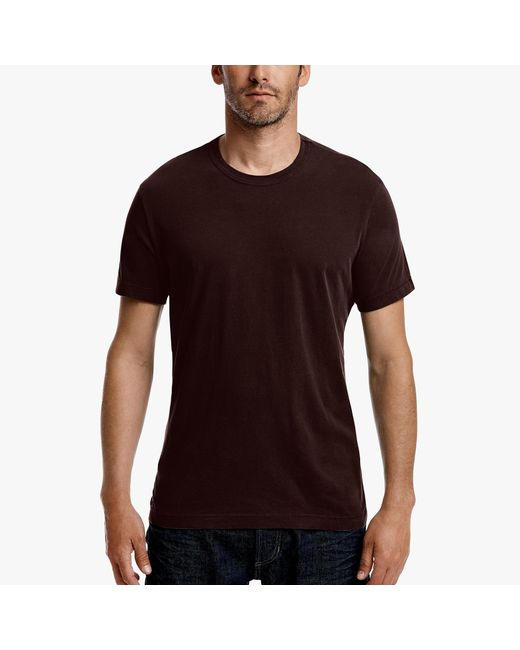 James Perse - Brown Short Sleeve Crew Neck for Men - Lyst
