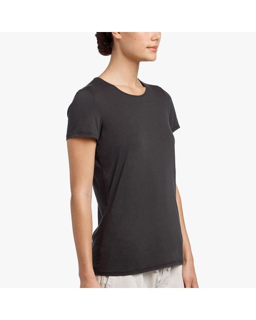 James Perse - Black Luxe Lotus Jersey Tee - Lyst