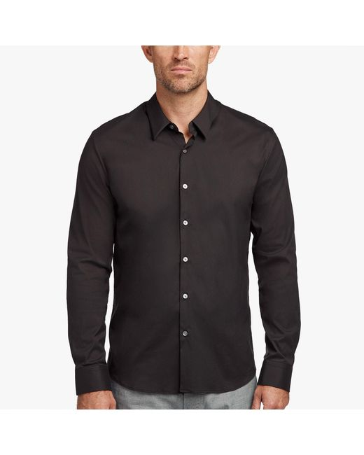 James Perse - Black Matte Stretch Poplin Dress Shirt for Men - Lyst