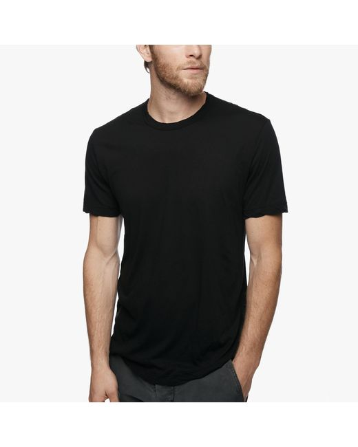 James Perse | Black Clear Jersey Crew for Men | Lyst