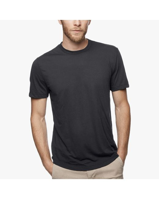 James Perse | Gray Clear Jersey Crew for Men | Lyst