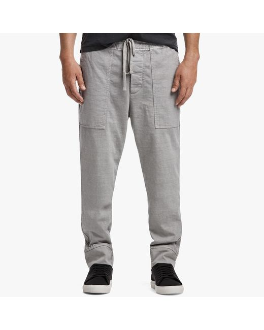 James Perse | Gray Rigid Jersey Jogger Pant for Men | Lyst