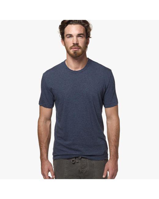 James Perse | Blue Melange Jersey Crew for Men | Lyst