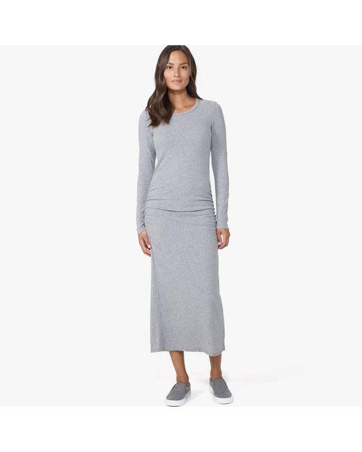 James Perse | Gray Skinny Split Dress | Lyst