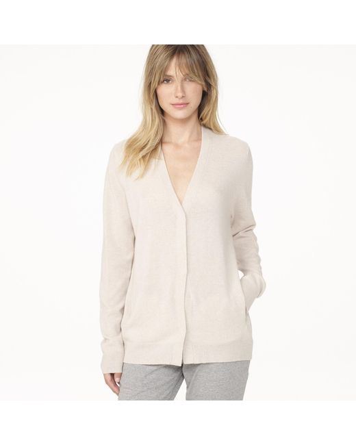 James Perse | Natural Classic Cashmere Cardigan | Lyst