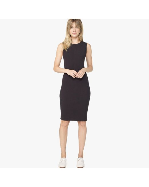 James Perse | Black Melange Rib Tunic Dress | Lyst