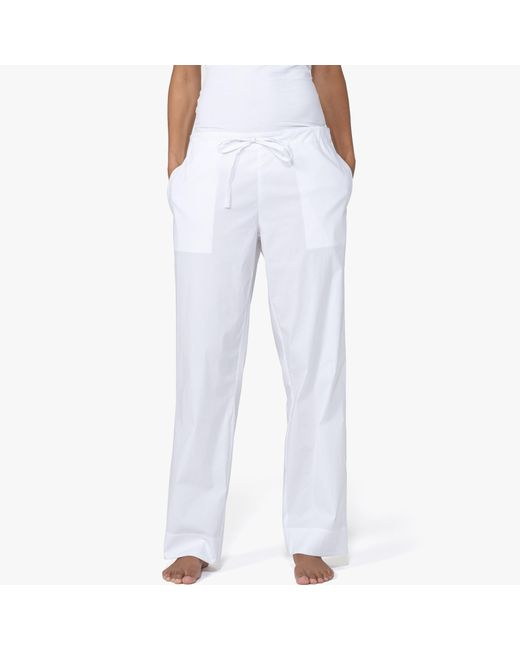 James Perse | White Laundered Cotton Pajama Pant | Lyst