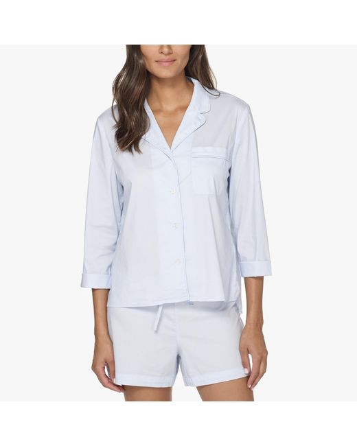 James Perse   Blue Laundered Cotton Night Shirt   Lyst