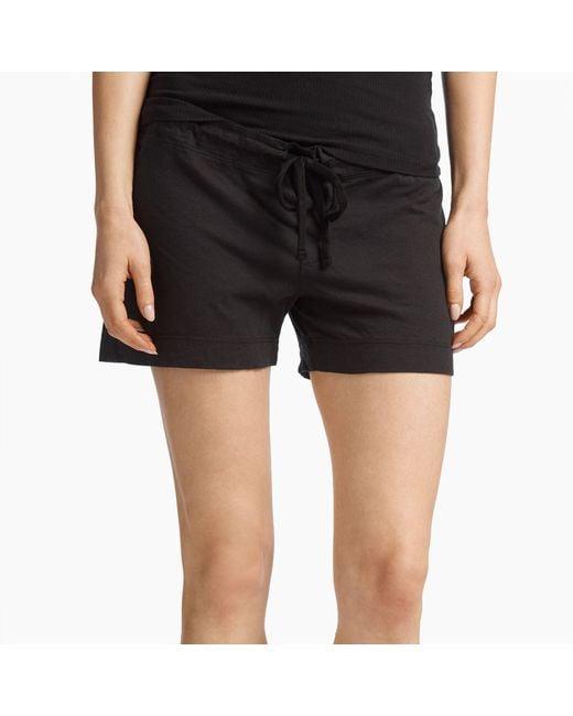 James Perse - Black Knit Jersey Pajama Short - Lyst