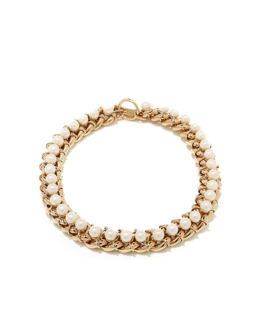 Jason Wu - White Chain Necklace With 8mm Pearls - Lyst
