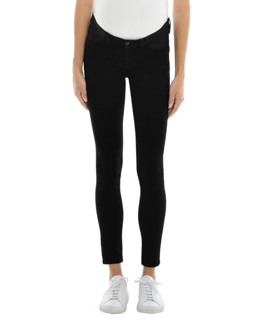 J Brand - Mama J Mid-rise Super Skinny In Seriously Black - Lyst