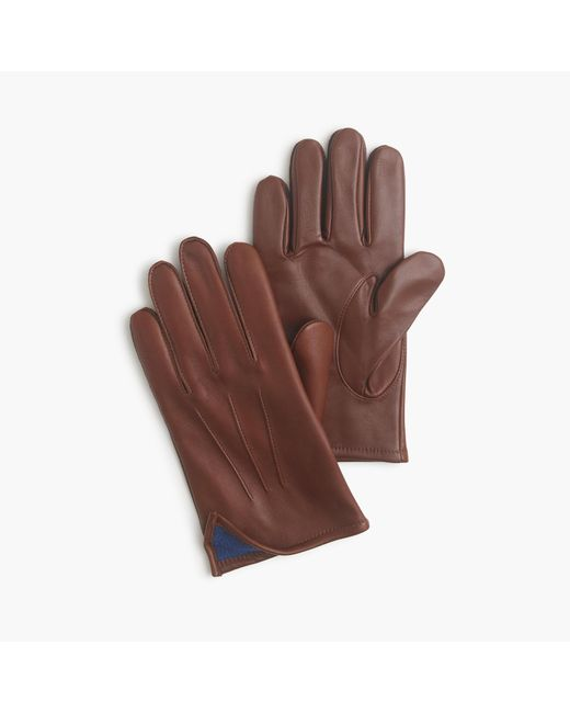 J.Crew | Brown Cashmere-lined Leather Smartphone Gloves for Men | Lyst