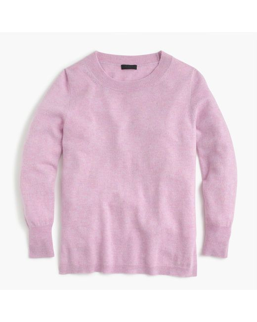 J.Crew - Pink Everyday Cashmere Crewneck Sweater - Lyst