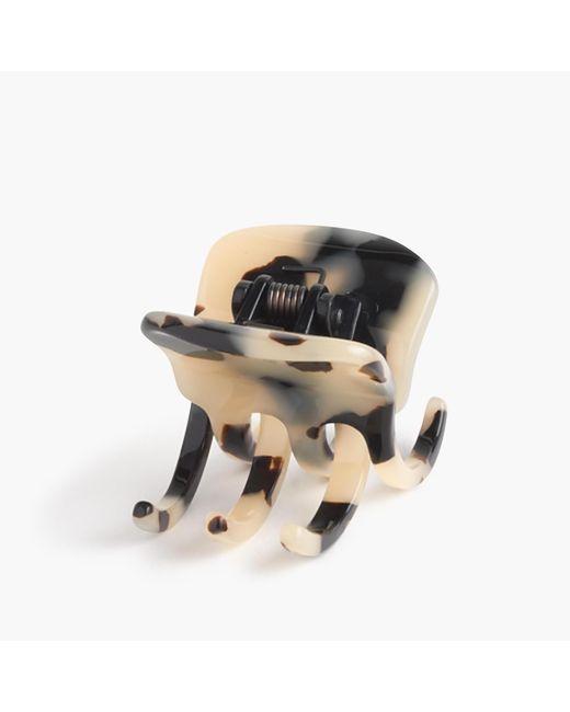 J.Crew | Black Modern Hair Clip In Italian Tortoise | Lyst