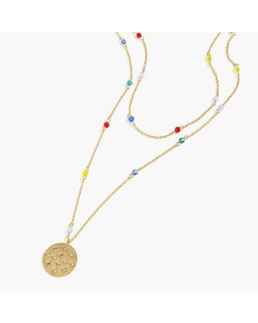 J.Crew - Metallic Alison Lou X Layered Pendant Necklace - Lyst