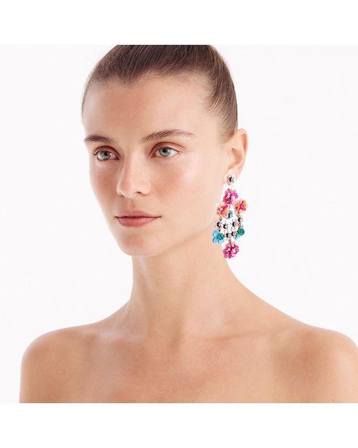 J.Crew - Multicolor Flower Garden Earrings - Lyst