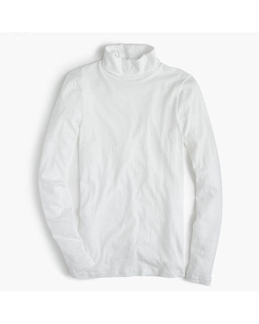 J.Crew - White Tissue Turtleneck T-shirt - Lyst