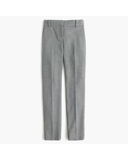 e7b9a9aa83a J.Crew Tall Cameron Slim Crop Pant In Four-season Stretch in Gray - Lyst