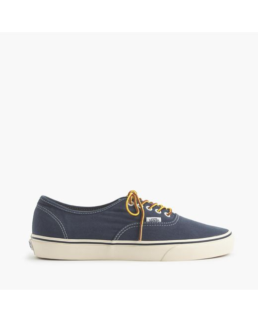 J.Crew | Blue Vans Washed Canvas Authentic Sneakers for Men | Lyst
