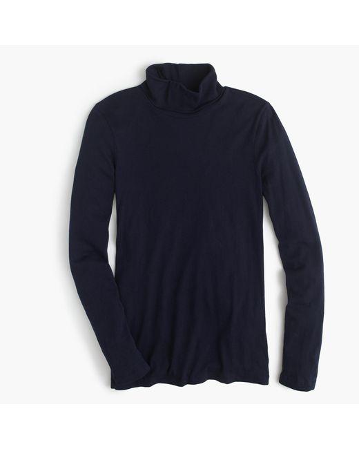 J.Crew   Blue Tissue Turtleneck T-shirt   Lyst