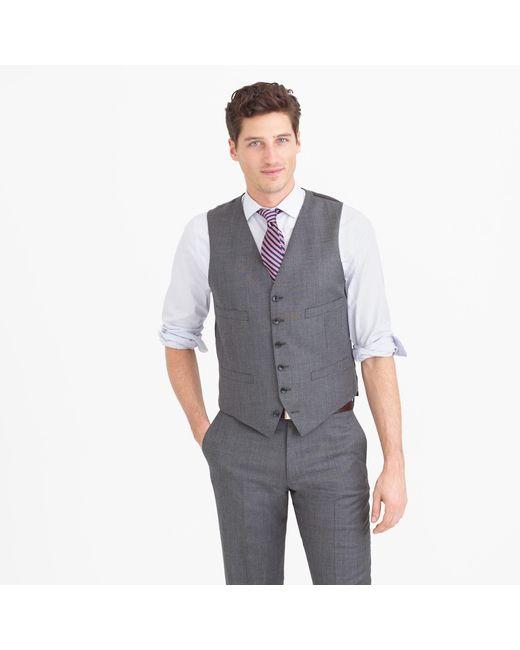 J.Crew   Gray Ludlow Suit Vest In Italian Worsted Wool for Men   Lyst