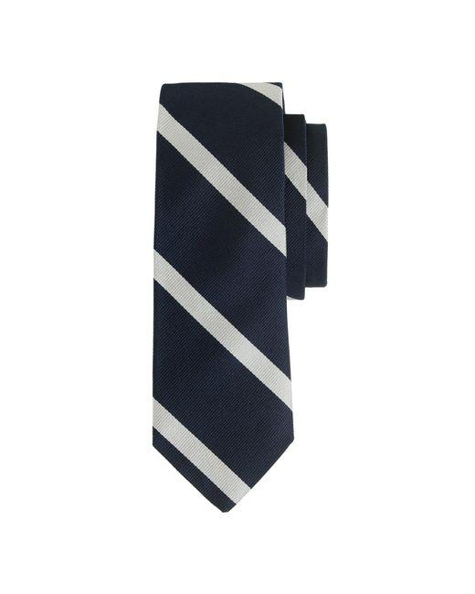 J.Crew - Blue English Silk Tie In Diagonal Stripe for Men - Lyst