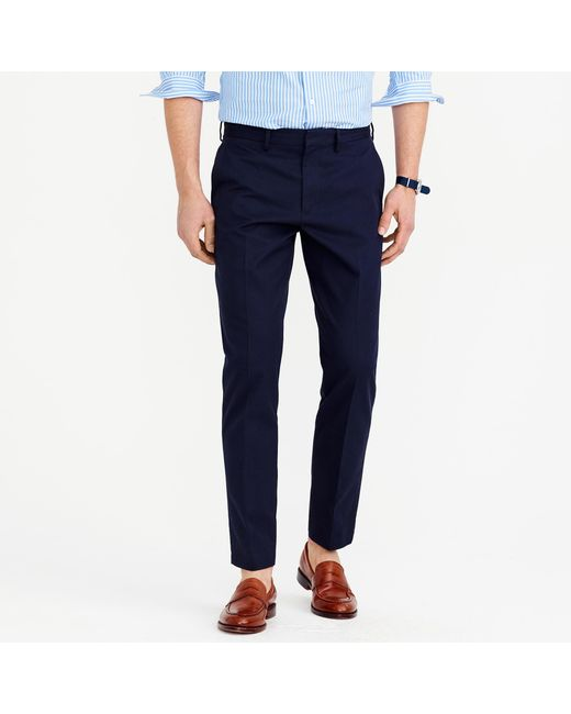J.Crew | Blue Bowery Slim Pant In Cotton Twill for Men | Lyst