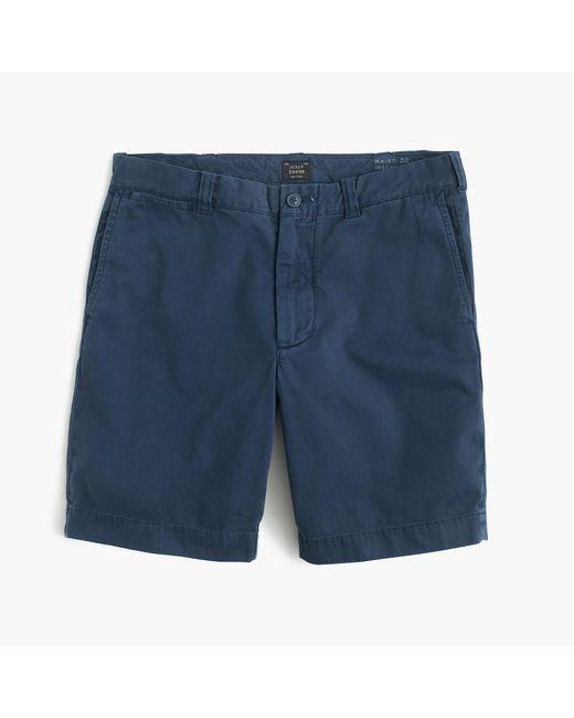 "J.Crew | Blue 9"" Short In Garment-dyed Cotton for Men | Lyst"
