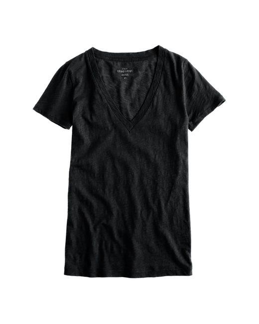 J.Crew | Black Vintage Cotton V-neck T-shirt | Lyst