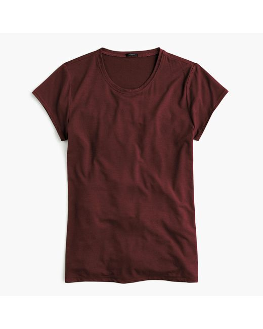 J.Crew   Red Drapey T-shirt   Lyst