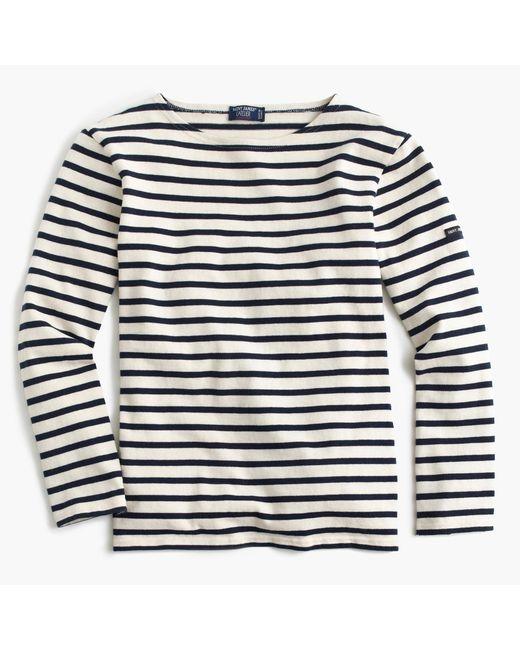 J.Crew | White Saint James Unisex Meridien Ii Nautical T-shirt for Men | Lyst